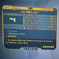 """Handsome Jackpot! ANOINTED """"Lucky 7"""" - Borderlands 3 (PS4) Moxxi's Heist"""