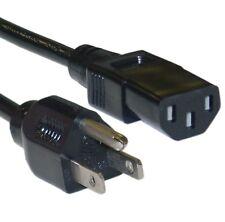 STANDARD 3 Prong IEC320C13 to NEMA5-15P Universal Appliance Computer Power Cord