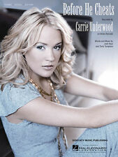 Before He Cheats Song by Carrie Underwood Piano Vocal Guitar Sheet Music NEW