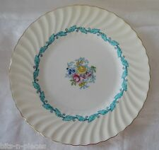 MINTON bone china ARDMORE #5363 Dinner Plate white  floral turquoise gold rim
