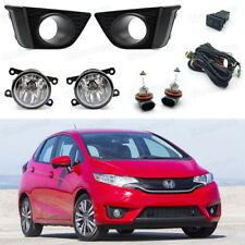 55W Fog Lights Driving Lamps Cover Switch Kit for Honda Fit Hatchback 2015-2017