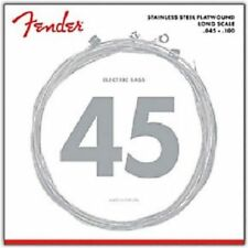 Fender 9050L Stainless Flatwound Bass Guitar Strings Light 45-100
