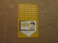 MLB Pittsburgh Pirates Vintage Circa 1979 Logo Baseball Pocket Schedule
