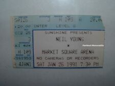 NEIL YOUNG Concert Ticket Stub 1991 MARKET SQUARE ARENA Rare CSN&Y Springfield