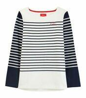 Joules Harbour Embroidery Jersey Top (Hello Stripe)