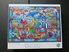 Stained Glass Aquarium Jigsaw Puzzle 2000 Pc Pieces Buffalo Games Fish Ocean