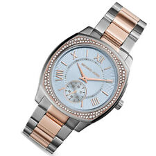 Nuevo Michael Kors MK6136 Bryn Dos Tonos Glitz Cuarzo Mineral Reloj Para Mujer