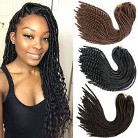 "18"" Goddess Curly Faux Locs Synthetic Crochet Locs Twist Braids Hair Extensions"