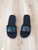 Black Sandals With Glitzy Strap size UK 7