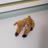 TY BEANIE BABY WHISPER THE DEER SOFT TOY PLUSH TOY 16CM LONG!