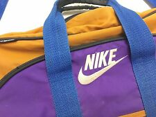 Vintage Retro 90's Nike 1994 Mead Gym Duffle Travel Bag Orange Purple Blue  Bag