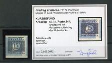 KROATIEN-PORTO Nr.24 U PV ** UNGEZÄHNT FARBBEFUND ZRINJSCAK BPP (128054)