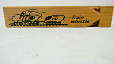 Wood Train Whistle- Gift Store Purchase