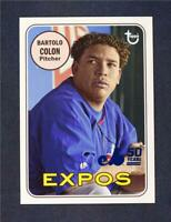 2019 Topps Archives 50th Ann of the Expos Blue #MTL-BC Bartolo Colon /150