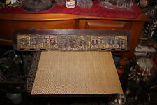 Antique Chinese Wood Carving Wall Plank-Carved Religious Elders-Temple