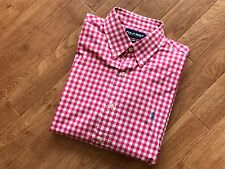 Ralph Lauren Shirt Check / Plaid PINK/WHITE FREE DELIVERY