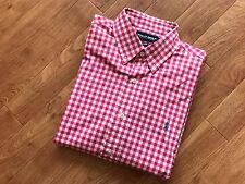 Ralph lauren chemise carreaux/écossais rose/blanc livraison gratuite