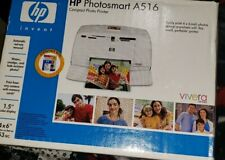 HP Photosmart A516 Compact Digital Photo Inkjet Printer NEW Open Box