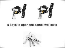 Concise Home 50mm Double Long Throw Gate Lock Both Sides 2 lock the same key