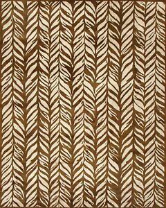 Pottery Barn Nautical Braid Brown Modern Handmade Wool Area Rug 8' x 10'
