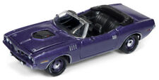 1/64 JOHNNY LIGHTNING MUSCLE CARS 1971 Plymouth Cuda Convertible in Violet Poly