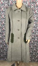 7061dc0137d Vintage Loden King Women s Gray Original Made in Western Germany Long Coat  ...