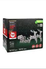 Xmas Christmas Lytworx LED Solar Reindeer Sleigh