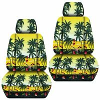 Fits 2011-2018 Hyundai Accent front set car seat covers HAWAII DESIGN