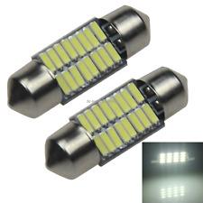 2x White AUTO 31MM Festoon Lamp marker Light 16 Emitters 4014 SMD LED 30mm Z2090
