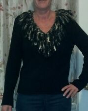 Susan Bristol medium black silk blend knitted sweater