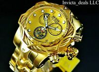 Invicta Men's Reserve 52mm Venom Bolt Swiss ETA Chronograph 18K Gold Plated Watc