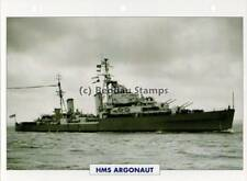 1941 HMS ARGONAUT Anti-Aircraft Cruiser Ship / GB Warship Photograph Maxi Card
