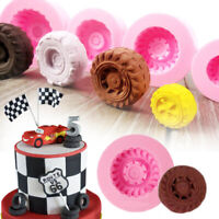 1Pc Silicone Fondant Car Tyre Cake Mold Decorating Sugarcraft Baking Mould Tools