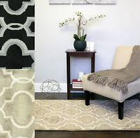 "Modern 2-Tone Geometric  ""Surya"" Decorative 3'x5' Floor Area Rug Carpet"