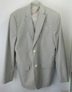 Perry Ellis Grey Pin Stripe Blazer Mens Sz 44 R