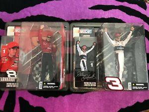 Lot of 2 2003 McFarlane Nascar Figures Dale Earnhardt Jr. and Dale Earnhardt Sr.