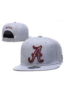 Alabama Crimson Tide Hat Cap logo snapback Adjustable Grey Red NEW