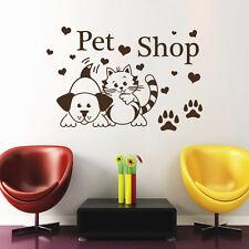 Wall Decal Pet Grooming Salon Decor Dog Cat Decal Home Art Sticker Vinyl MR589