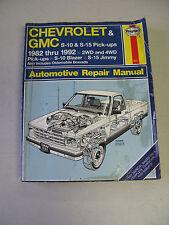 HAYNES #831 Automotive Repair Manual Book for 1982-1992 CHEVROLET & GMC PICKUPS