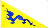 China Dragon Triangle 3x5 Feet Flag / Chinese Dragon