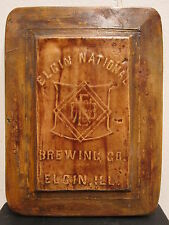 Vintage Elgin National Brewing Il Labeling Tool Sign Beer Crate Bottles