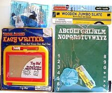 3 TOYS FOR THE CHILD>>EASY WRITER, JUMBO SLATE, TOY ANIMAL>>NEW IN PACKAGES