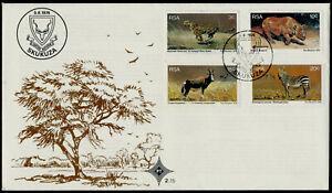South Africa 465-8 on FDC - Wildlife Protection, Cheetah, Zebra, Rhinoceros