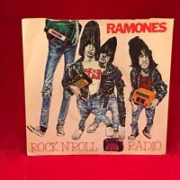 "THE RAMONES Rock N' Roll Radio 1980 UK 7"" vinyl Single EXCELLENT CONDITION 45"