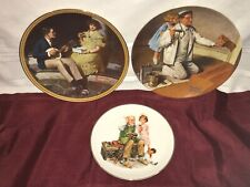 Lot of 3 Norman Rockwell Plates Cobbler Painter Pondering on the Porch