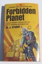 1967 Forbidden Planet Paperback Library 1st Printing Book WJ Stuart Vintage Good