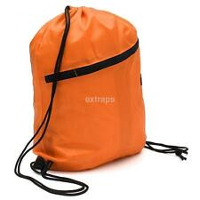 String Drawstring Backpack Cinch Sack Gym Tote Bag Polyester School Sport Pack S
