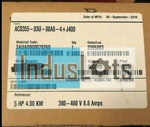 Brand New-  ABB ACS355-03U-08A8-4+J400 - 5 HP VFD