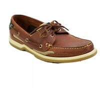Sebago Docksides Boat Shoes Womens Size 8.5W Brown Tan Leather Made in USA