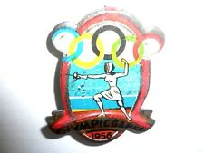 1956 OLYMPIC GAMES MELBOURNE AUSTRALIA Olympics Sport Pin Fencing VERY RARE!!!!!